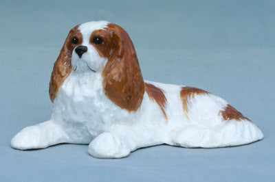 Ron Hevener Family Dog Figurine For Cavalier King Charles Lovers -- What Color Is Yours?