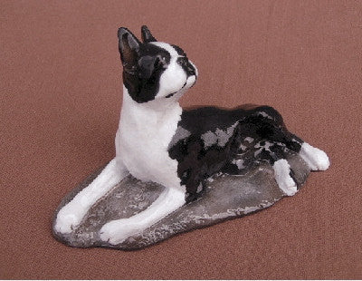 Ron Hevener Family Dog Figurine For Boston Lovers -- What Color Is Yours?