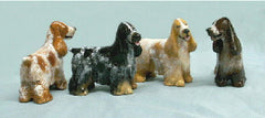 Ron Hevener Family Dog Figurine For English Cocker Lovers -- What Color Is Yours?