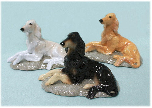 Ron Hevener Family Dog Figurine For Saluki Lovers -- What Color For You?