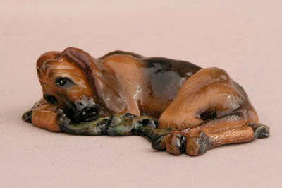 Ron Hevener Family Dog Figurine For Bloodhound Lovers -- What Color Is Yours?