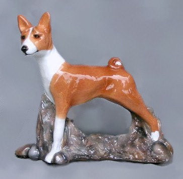 Ron Hevener Family Dog Figurine For Basenji Lovers -- What Color Is Yours?