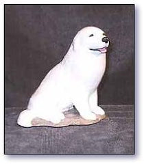 Ron Hevener Collectible Great Pyrenees Dog Figurine