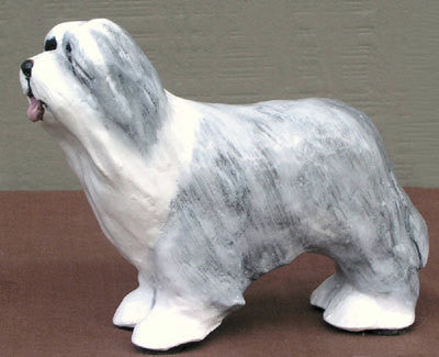 Ron Hevener Family Dog Figurine For Beardie Lovers -- What Color Is Yours?