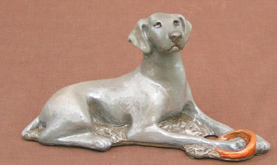 Ron Hevener Collectible Weimeraner Dog Figurine