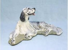 Ron Hevener Family Dog Figurine For English Setter Lovers -- What Color Is Yours?