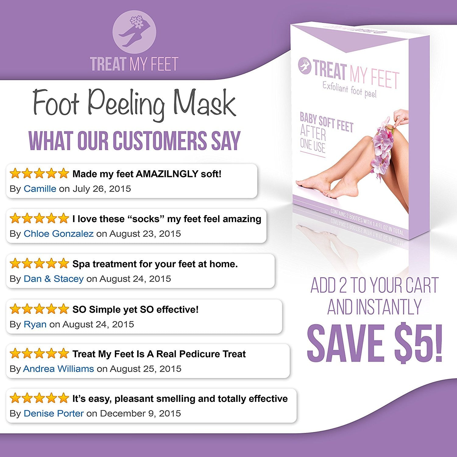 Treat My Feet Exfoliating Foot Peel and Mask