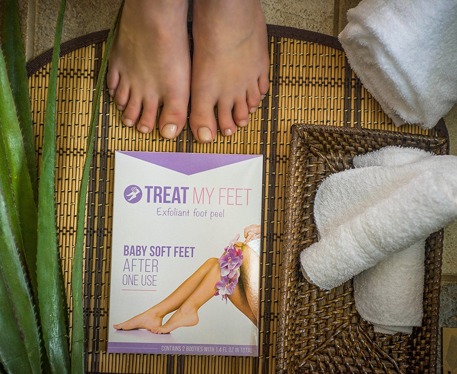 Treat My Feet Exfoliating Foot Peel and Mask (2Pack)