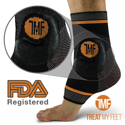 Best Copper Infused Compression Ankle Brace, Silicone Ankle Support w/ Anti-Microbial Copper. Plantar Fasciitis, Foot, & Achilles Tendon Pain Relief.