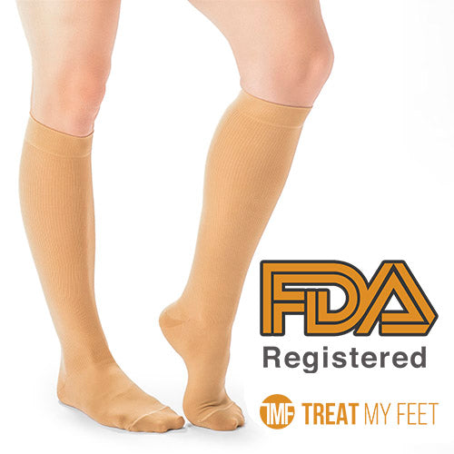 Beige Calf & Leg Moderate Compression Socks - 15-20 mmHg