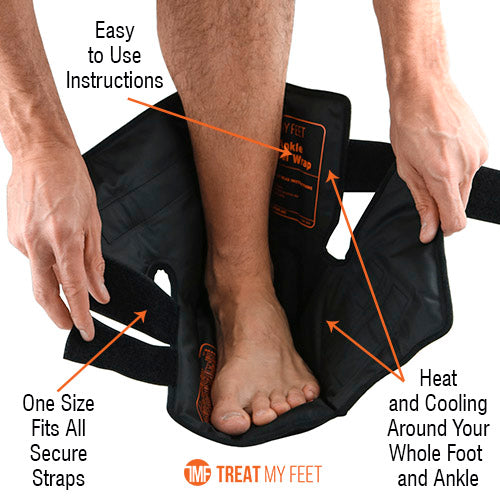 Hot / Cold Gel Wrap For Foot Pain, Strains, Ankle Sprains