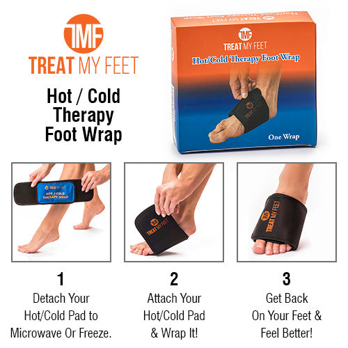 Hot / Cold Therapy Arch Wrap For Foot Pain, Strains, Sprains