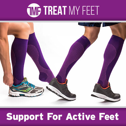 Purple Calf & Leg Moderate Graduated Compression Socks - 15-20 mmHg