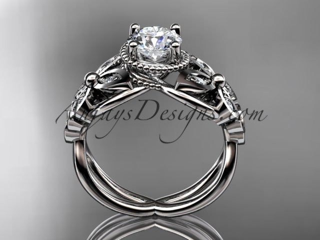 14kt white gold diamond celtic trinity knot wedding ringbutterfly engagement ring with a - Butterfly Wedding Rings