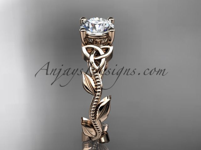 14kt rose gold celtic trinity knot wedding ring, engagement ring CT7238 - AnjaysDesigns