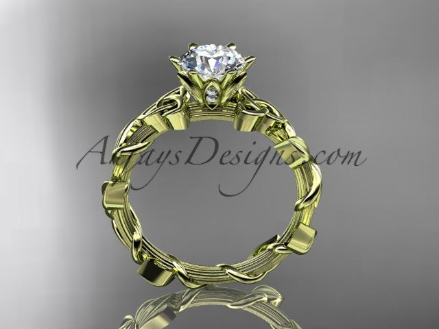 14kt yellow gold diamond celtic trinity knot wedding ring, engagement ring CT7248 - AnjaysDesigns