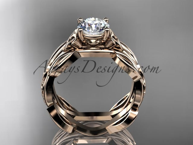 14kt rose gold celtic trinity knot wedding ring, engagement ring CT7264 - AnjaysDesigns