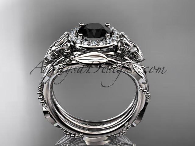 platinum diamond celtic trinity knot wedding ring engagement set