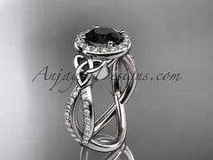Black Diamond Celtic Bridal Rings