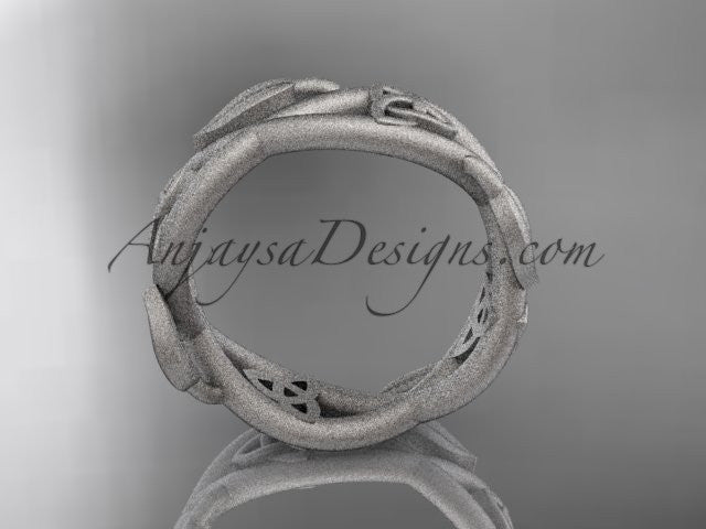 platinum celtic trinity knot wedding band, matte finish wedding band, triquetra ring, engagement ring CT7403G - AnjaysDesigns