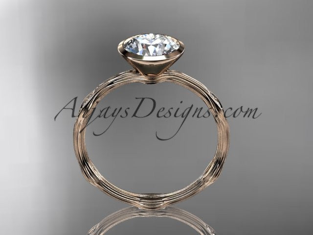 14k rose gold diamond vine wedding ring,engagement ring ADLR21A - AnjaysDesigns