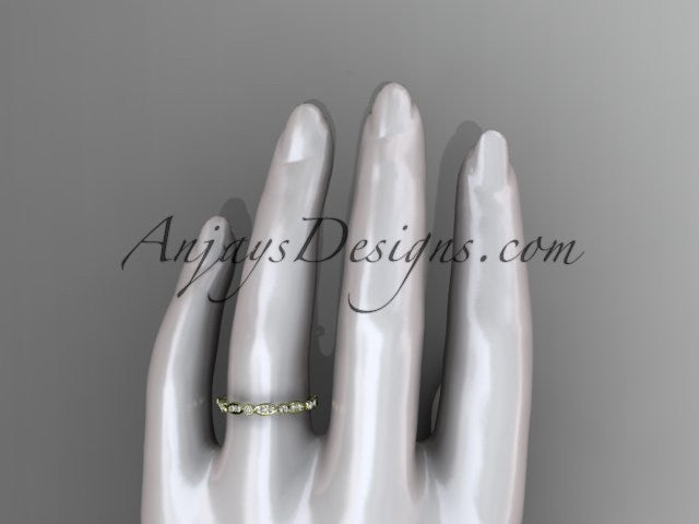 14k yellow gold diamond wedding ring,engagement ring ADLR29 - AnjaysDesigns