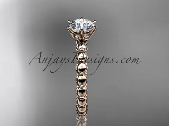 14k rose gold diamond vine and leaf wedding ring,engagement ring ADLR34 - AnjaysDesigns