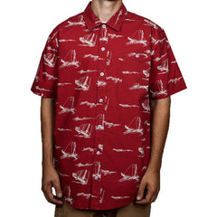 Murrell Button Down SS Shirt - Red
