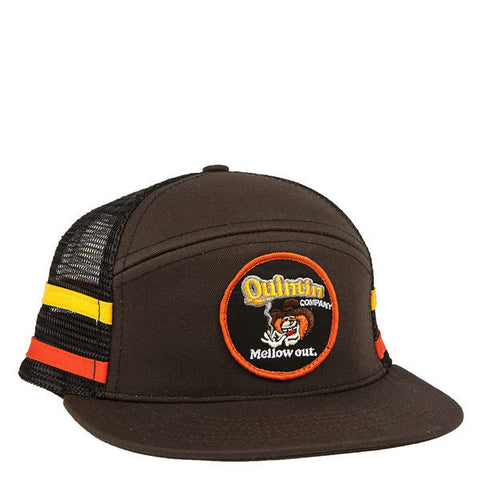 Red Rover Mesh Snapback Trucker - Brown