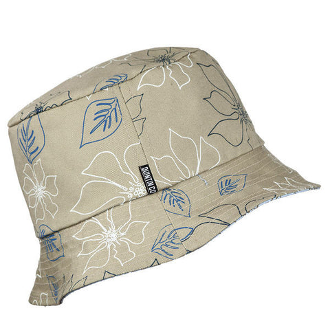 Mason Reversible Bucket Hat - Khaki-Lt Blue