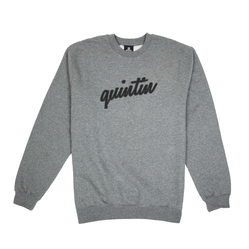 Crew - Heather Grey w/ Black Logo