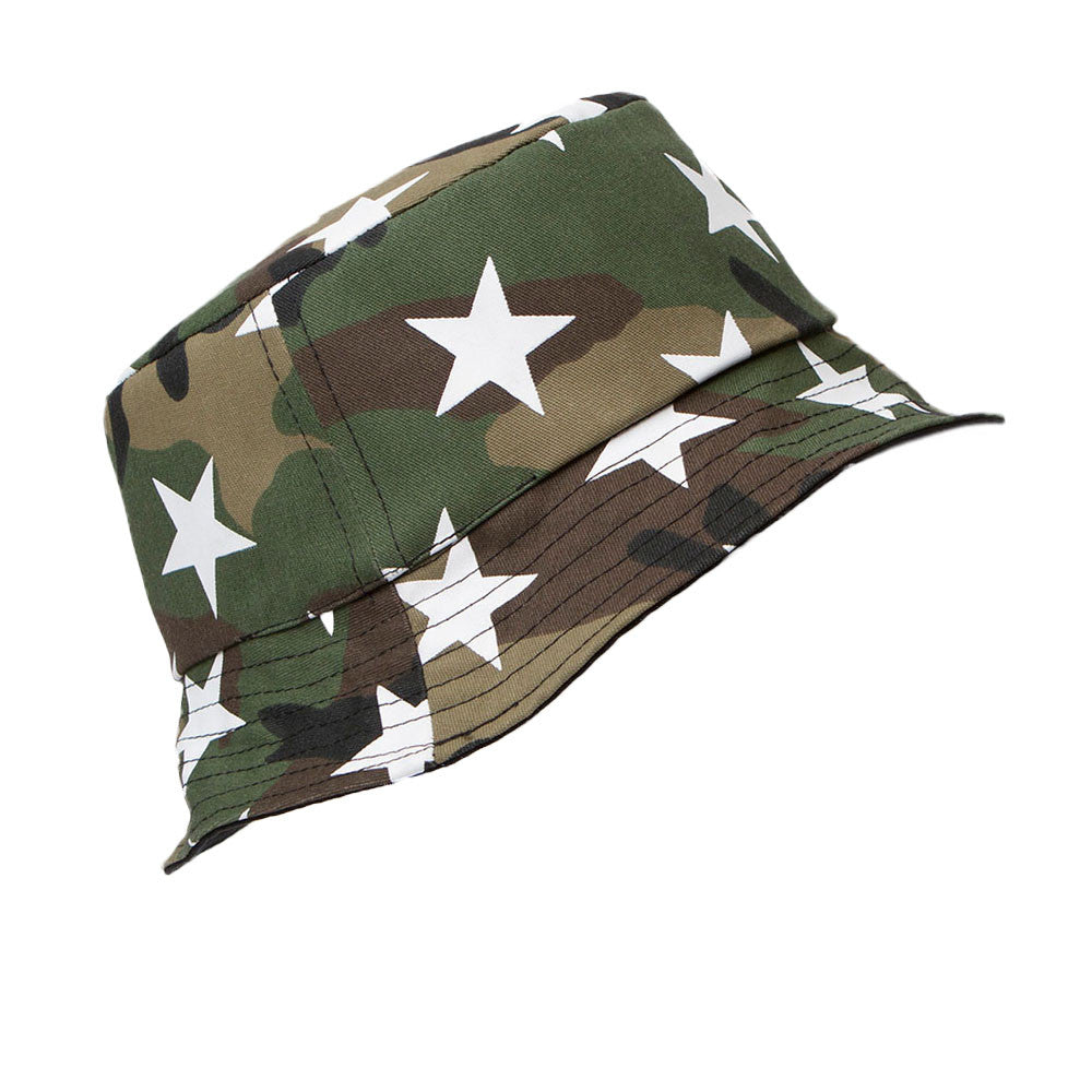 Camo Star Reversible Bucket Hat