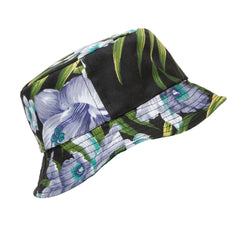 Midnight Bloom Reversible Bucket Hat