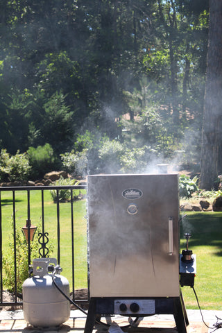 Smokehouse Gas Smoker Smoking Ribs