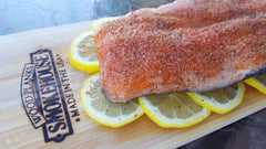 Prepared Salmon on Smokehouse Cedar Plank