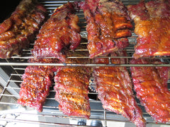 Smokey ribs in gas smoker