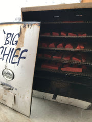 Big Chief smoker with smoked salmon