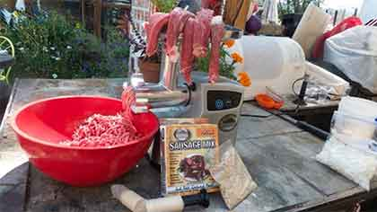Grinding Meat with Smokehouse 3/4 HP Meat Grinder