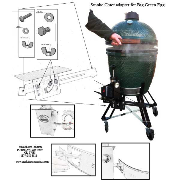 Smokehouse Smoke Chief Big Green Egg Adapter Kit Smokehouse Products
