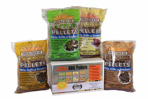 BBQ Pellets Variety Pack - 4 Pack (20 LBS. Total)