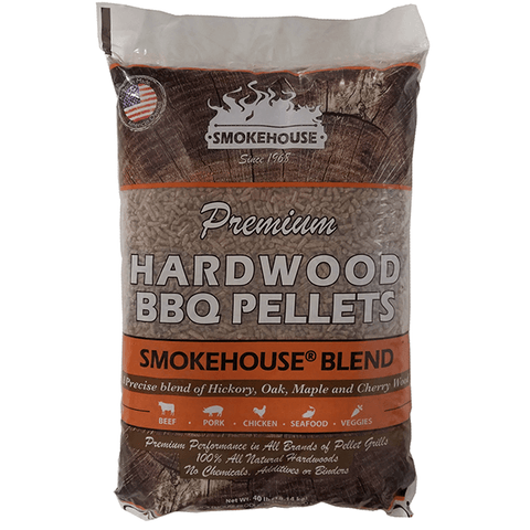 Smokehouse Blend Premium Hardwood BBQ Pellets - 40 lb