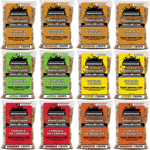 Wood Chips Variety Pack - 12 Pack