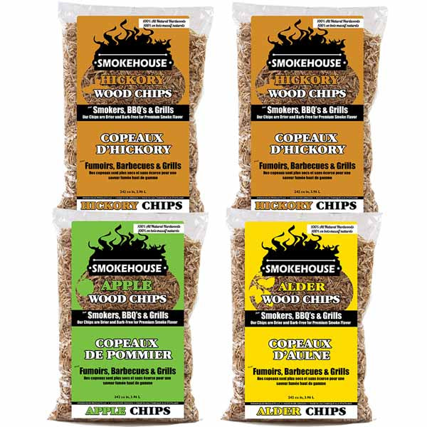 Wood Chunks Variety Pack - 4 Pack