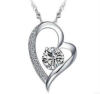 Stunning Silver and Crystal Heart Necklace - Seraphim Jewelry