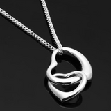 .925 Sterling Silver Hearts Necklace - Seraphim Jewelry - 1