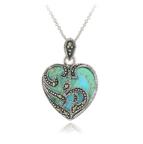 925 Sterling Silver and Turquoise Necklace - Seraphim Jewelry