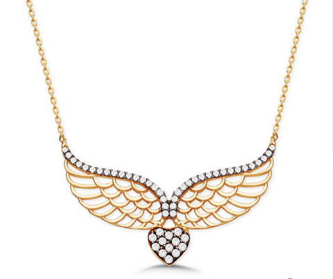Angel Wing Necklace - Seraphim Jewelry