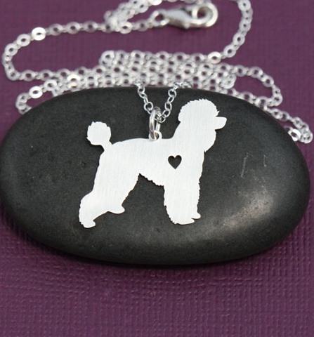 Poodle Silver Necklace - Seraphim Jewelry