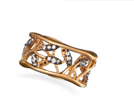 14 K Gold Vine Design Ring - Seraphim Jewelry