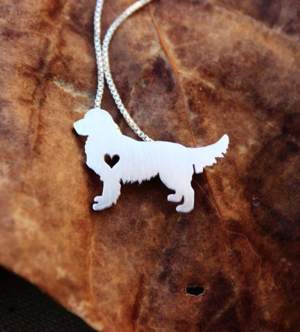 Golden Retriever Silver Necklace - Seraphim Jewelry